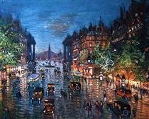 Paris Boulevard - Konstantin Alexejewitsch Korowin
