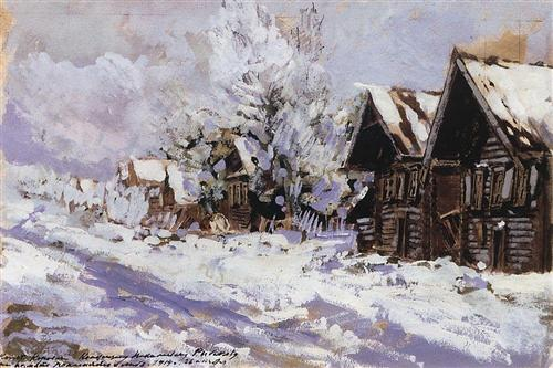 Константин Коровин. Зимой