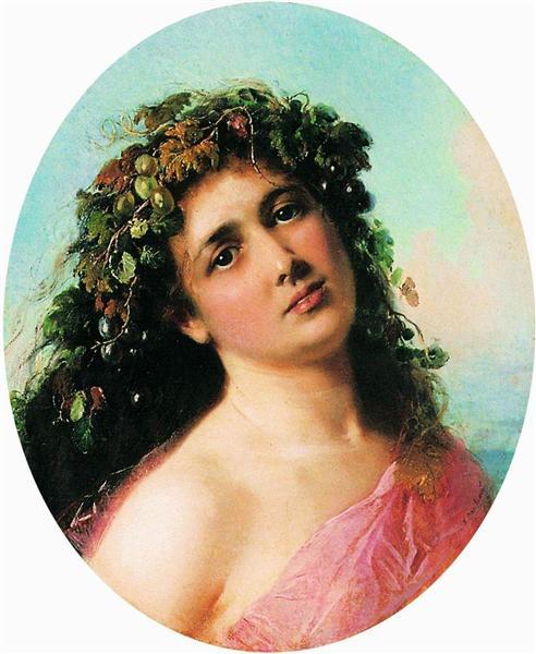 Bacchante, c.1870 - Konstantin Makovsky