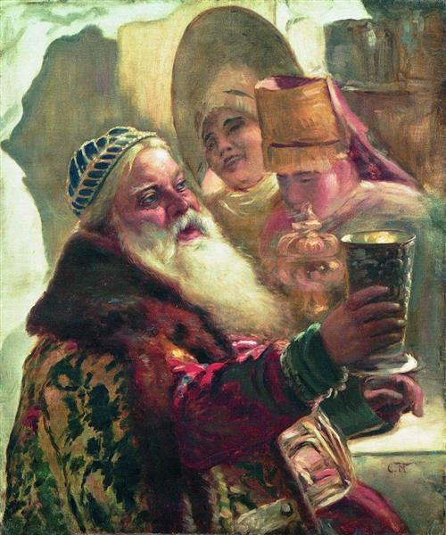 Boyar with the cup - Konstantin Makovsky