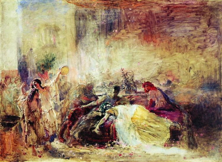 Death of Petronius, 1904 - Konstantin Makovsky