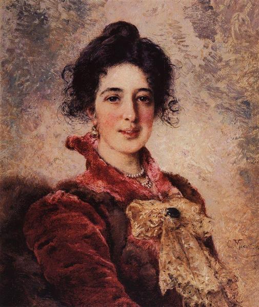 Female Portrait, c.1890 - Konstantin Makovsky