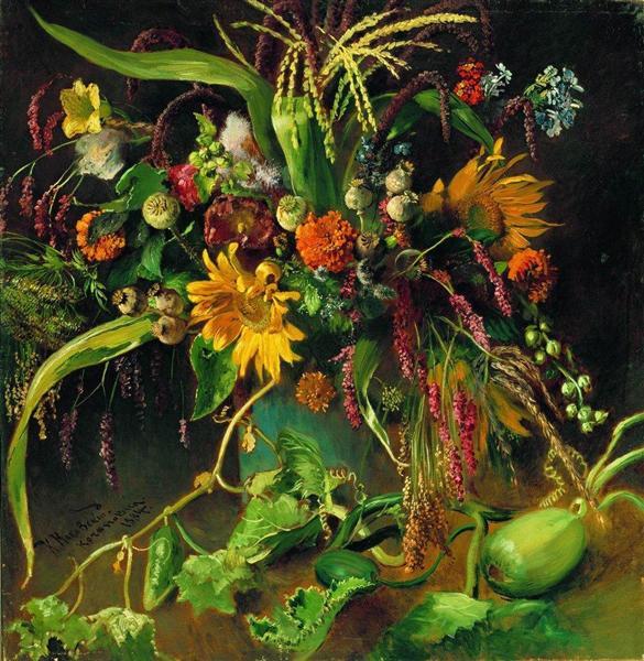 Flowers 1, 1884 - Konstantin Makovsky