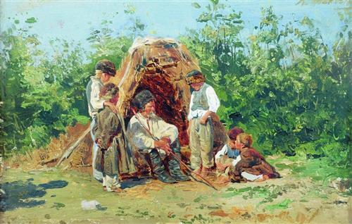 Grandfather Stories - Konstantin Makovsky