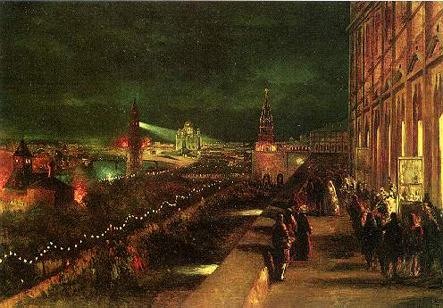 Illumination of Moscow on the occasion of the coronation in 1883, 1883 - Konstantin Makovsky