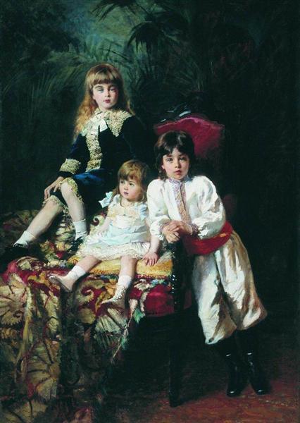 Mr. Balashov's Children, 1880 - Konstantin Makovsky