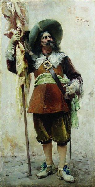 Musketeer, c.1880 - Konstantin Makovsky