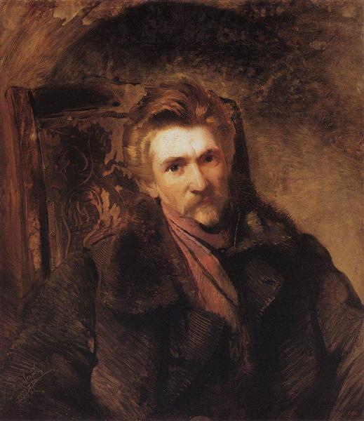 Portrait of Artist Alexander Popov, 1863 - Konstantin Makovsky