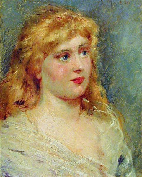 Portrait of Blonde, c.1900 - Konstantin Makovsky