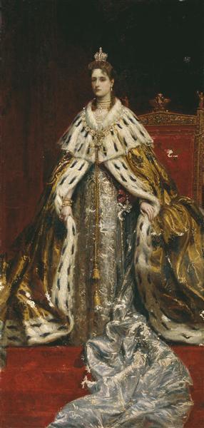 Portrait of Empress Alexandra Feodorovna (Alix of Hesse) - Костянтин Маковський