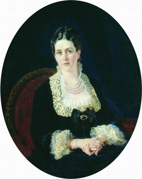 Portrait of Princess E.Sheremetiyeva, 1877 - Konstantin Makovsky