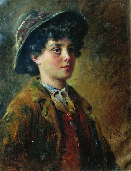 Portrait of the Italian Boy - Konstantin Makovsky