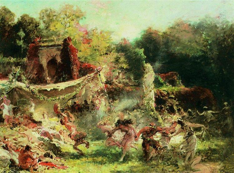 Spring Bacchanalia, 1891 - Konstantin Makovsky