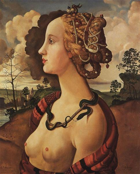 Copy of 'Portrait of Simonetta Vespucci' by Piero di Cosimo, 1939 - Konstantin Somov