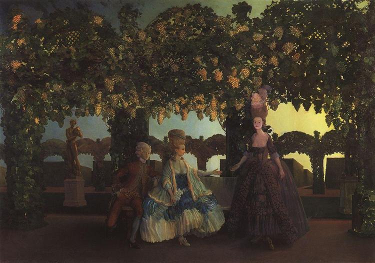 Evening, 1900 - 1902 - Konstantin Somov