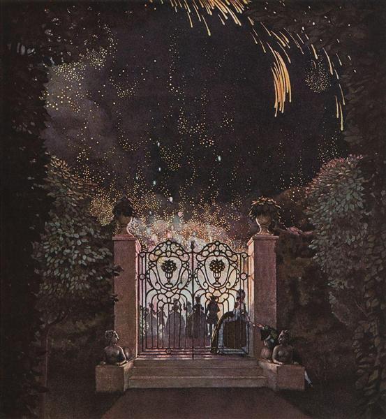Fireworks in the Park, 1907 - Konstantin Somov