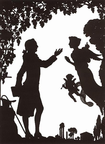 Goethe, Muse and Cupid, 1906 - Konstantin Somov