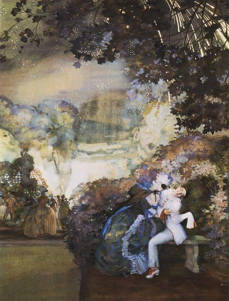 Lady and Pierrot, 1910 - Konstantin Somov
