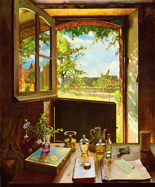 Open Door on a Garden, 1934 - Konstantin Somov