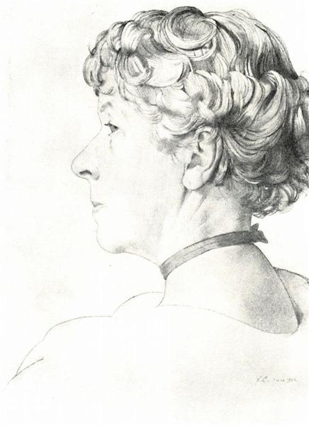Portrait A. Somova-Mikhailova, 1920 - Konstantin Somov