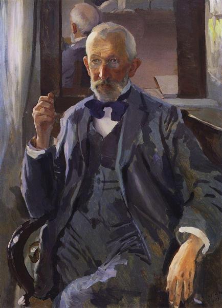 Portrait of A. Somov, the Artist's Father, 1897 - Konstantin Somov