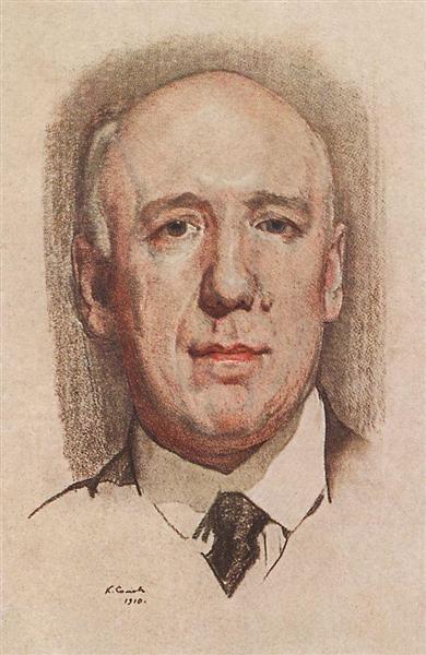 Portrait of F. Sologub, 1910 - Konstantin Somov