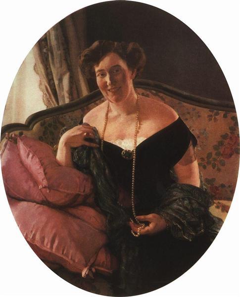 Портрет М.Д. Карповой, 1913 - Константин Сомов