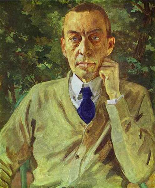 Portrait of the composer Sergei Rachmaninov, 1925 - Konstantin Andrejewitsch Somow