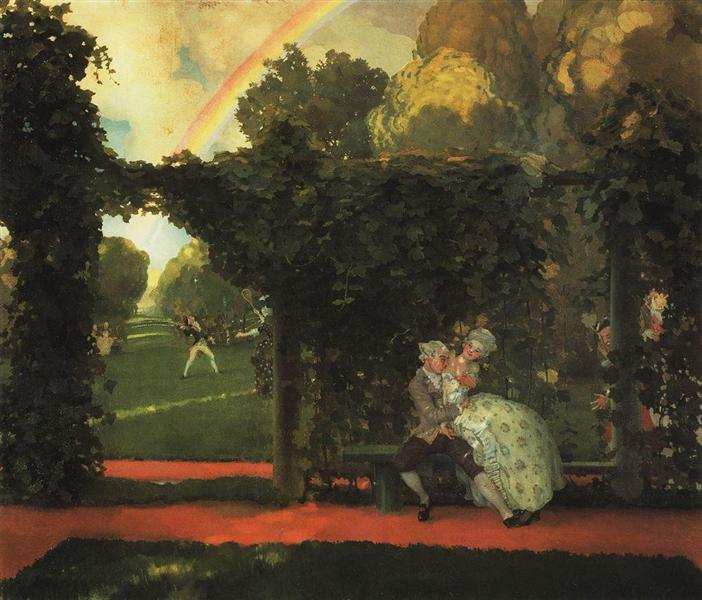 The Laughed Kiss, 1908 - 1909 - Konstantin Somov