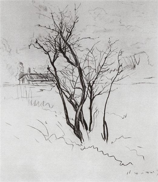 The Tree in the Field, 1897 - Konstantin Somov