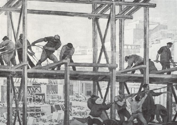 Building, 1924 - Konstantin Yuon