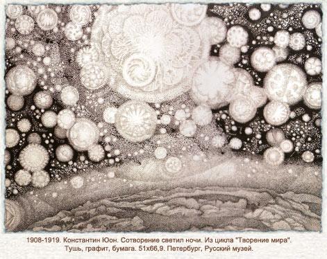 Creation of the night light, 1908 - 1919 - Konstantin Yuon