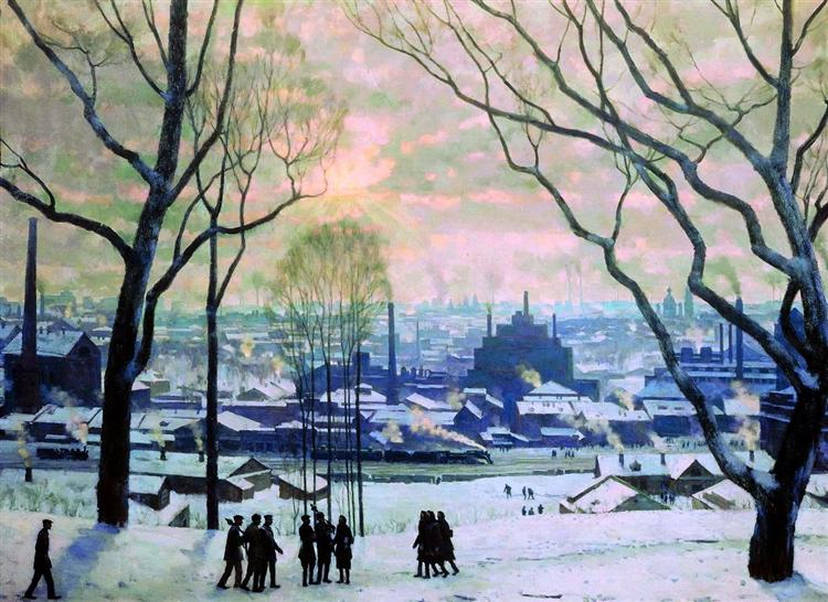 Industrial Moscow, 1949 - Konstantin Yuon