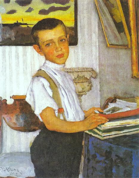 Portrait of Boris Yuon, Artist's Son, 1912 - Konstantin Yuon