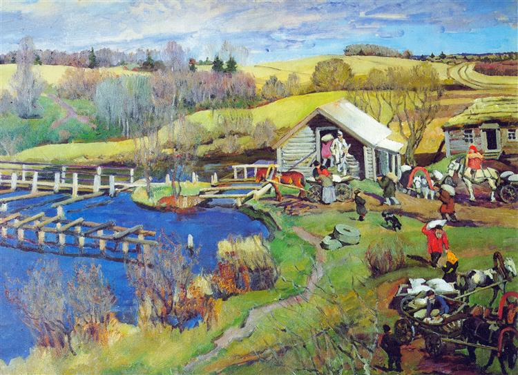 The Mill. October. Ligachevo, 1913 - Konstantin Yuon
