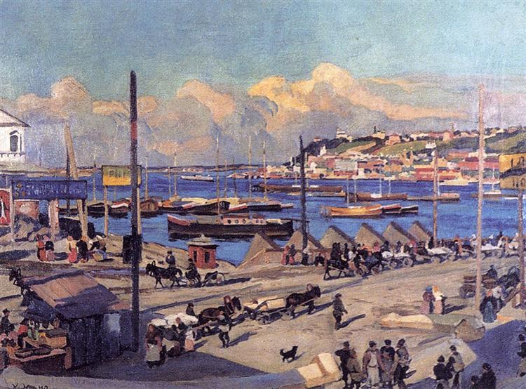 The Pierce on Volga. Nizhny Novgorod, 1912 - Konstantin Yuon