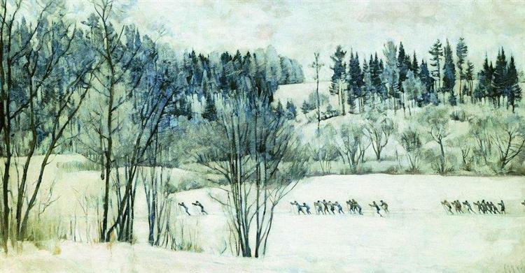 The Ski Excursion, 1930 - Konstantin Yuon