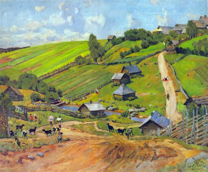 The Village of Novgorod Governorate, 1912 - Konstantin Yuon