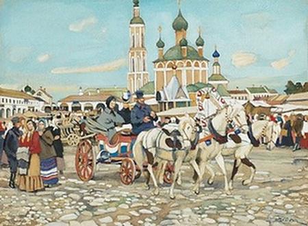 Triple in Uglich, 1913 - Constantin Youon