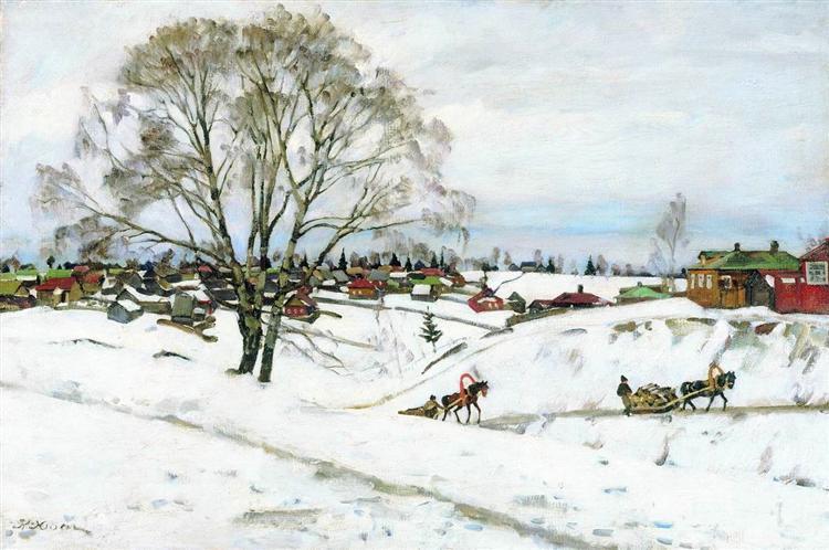 Winter. Black Birches. Sergiyev Posad, 1921 - Konstantin Yuon
