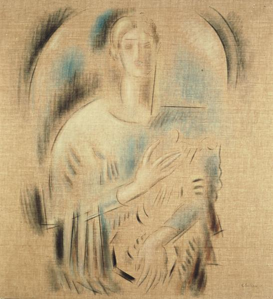 St. Cecilia, c.1938 - Konstantinos Parthenis