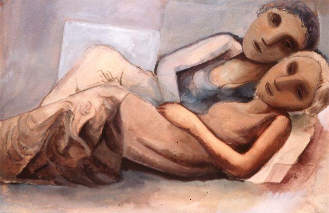 Duas Figuras, 1933 - Lasar Segall