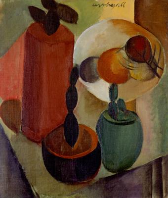 Natureza morta com três vasos de cactos, 1929 - Lasar Segall