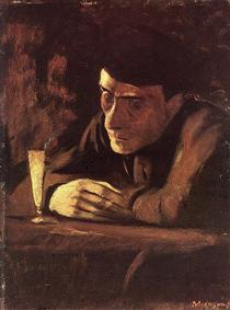 Absinth Drinker - Laszlo Mednyanszky