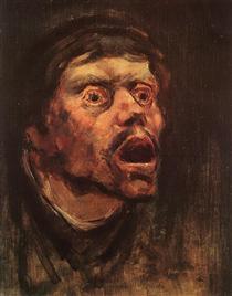 Head of a Tramp - Laszlo Mednyanszky