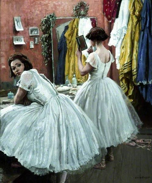 A Dressing Room at Drury Lane, 1952 - Laura Knight