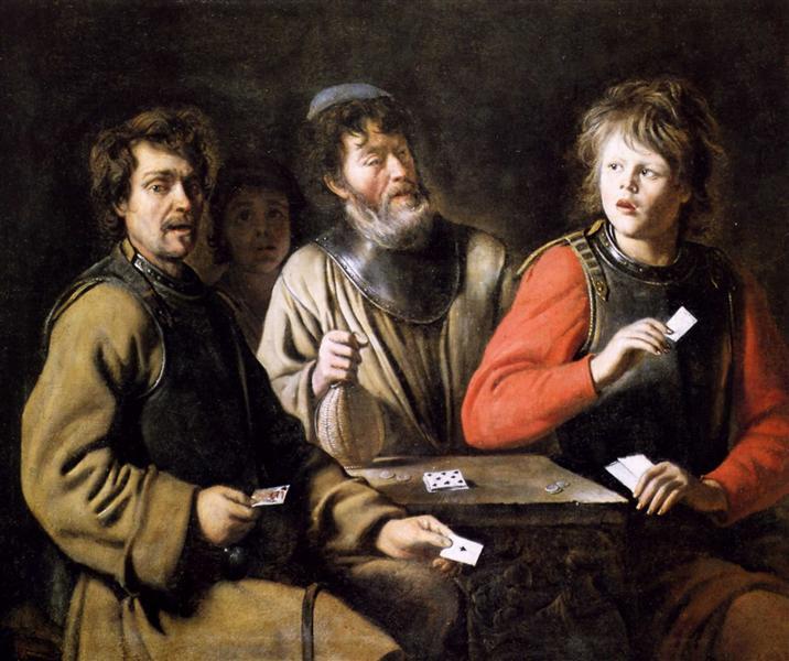 Card players, c.1635 - c.1640 - Le Nain (Irmãos Le Nain)