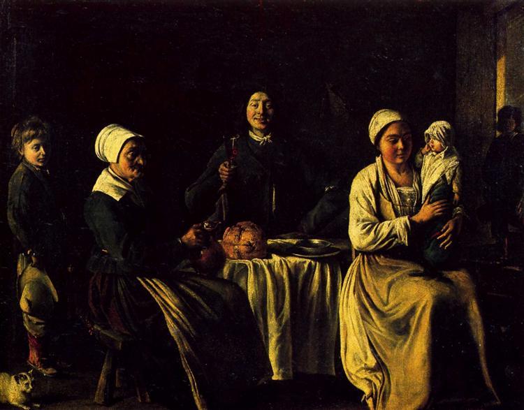 The happy family, 1642 - Le Nain (Irmãos Le Nain)