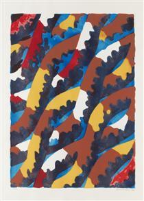 Komposition med blad - Lennart Rodhe