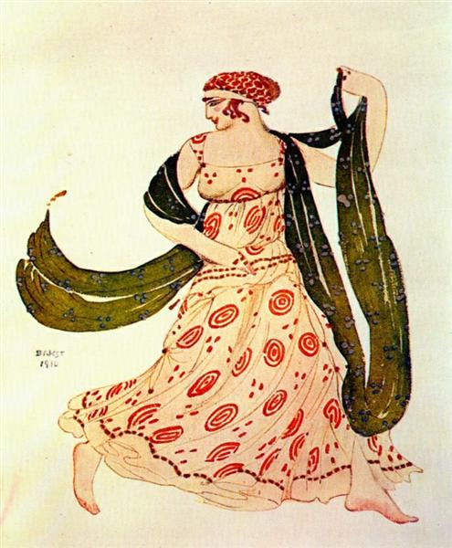 Cleopatre greek dancer, 1910 - Leon Bakst